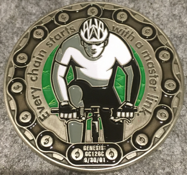 Mou10bike 15 Years Geocoin